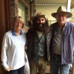 Brian Roach with wife Carol and Costa Georgiadis